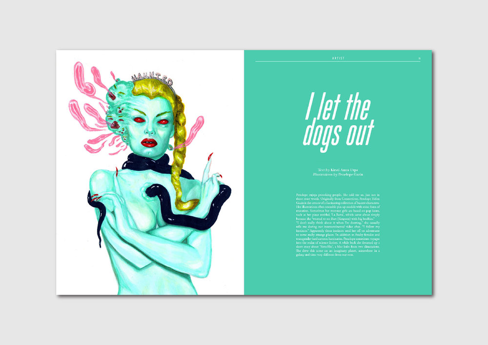I let the dogs out:  Penelope Gazin's sublimely creative illustrations
