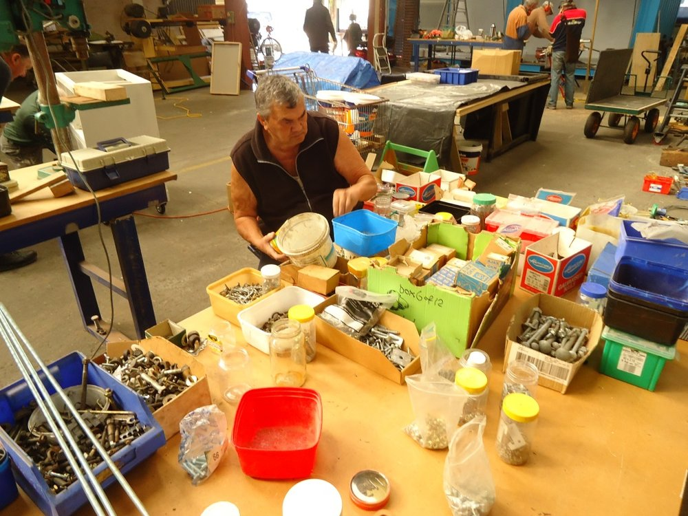 Dave doing more sorting