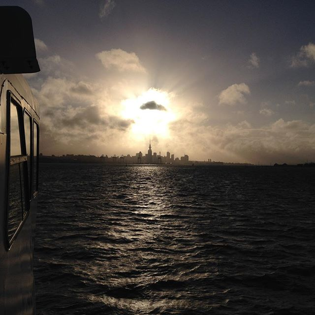Enjoying the views coming into Auckland back from the #greatbarrierisland #nz #worldtour #prettierthantheex