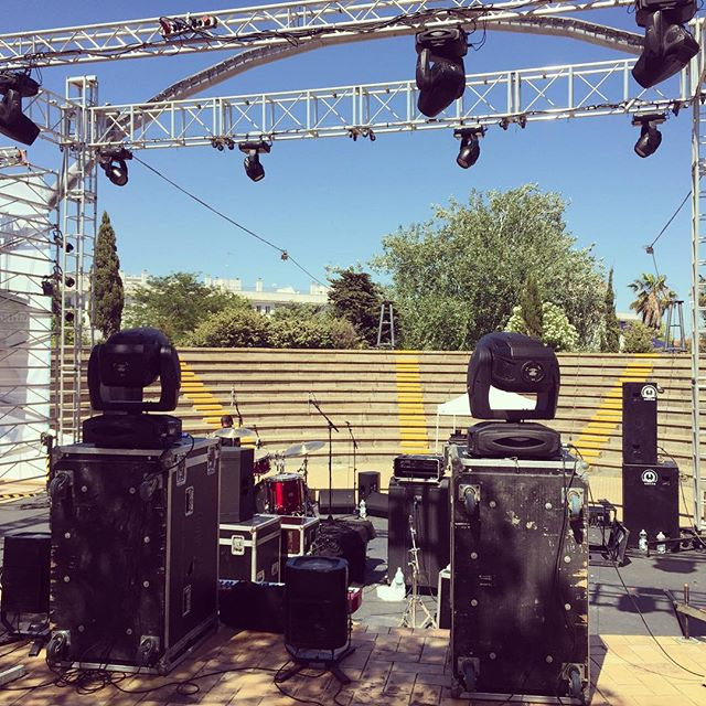 The stage for tonight at @anfirock_isla_cristina #anfirocksoundfestival #islacristina #yossarian #soundcheck #festival #postrock