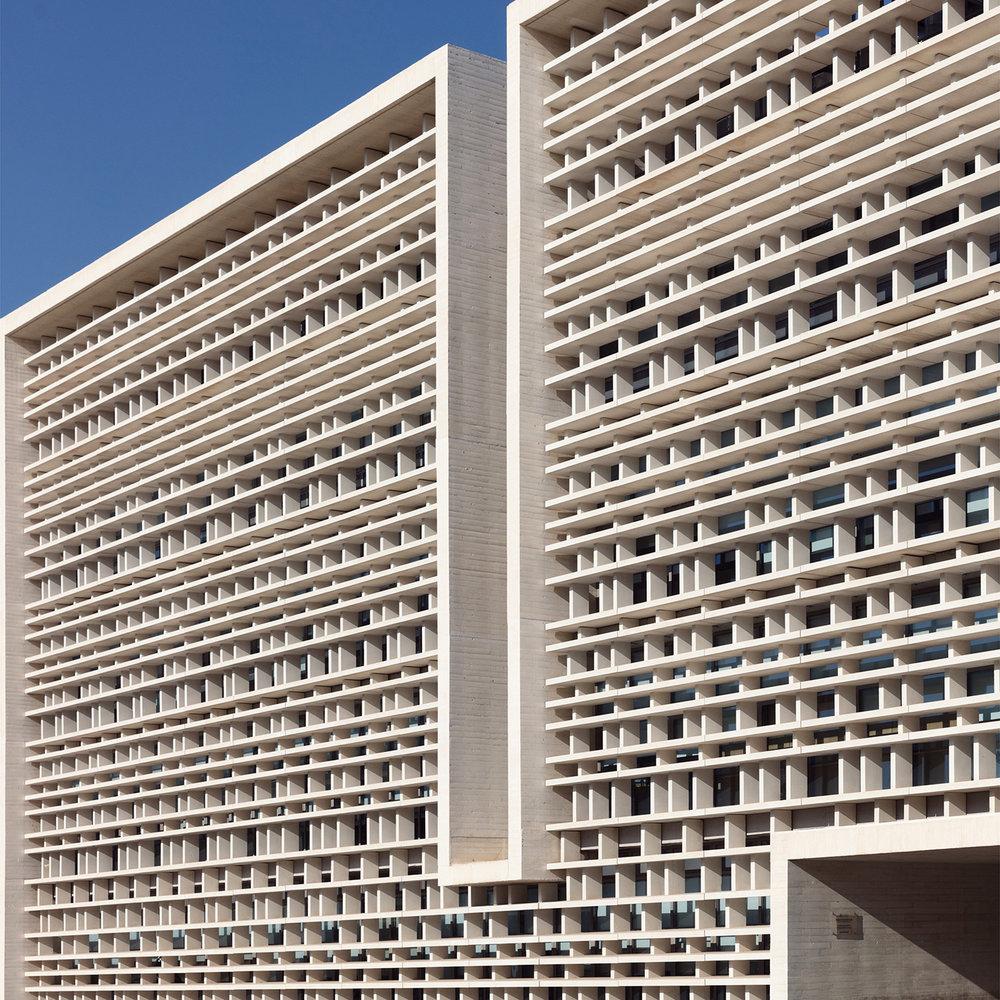 Universidad Politecnica de Valencia, ETSI de telecomunicaciones y centro de lenguas <br />Location: Valencia, Spain <br />Architect: Corell Monfort Palacio Arquitectos
