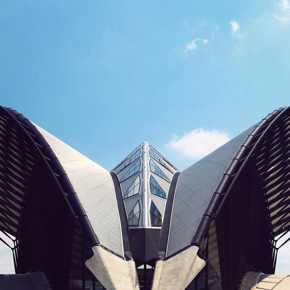 Gare de Lyon Saint-Exupéry Location<br />: Lyon, France <br />Architect: Santiago Calatrava