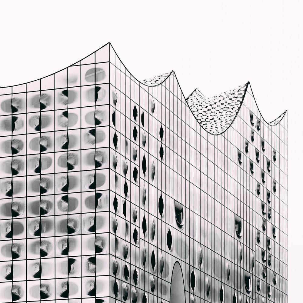 Elbphilharmonie <br />Location: Hamburg, Germany <br />Architects: Jacques Herzog & Pierre de Meuron