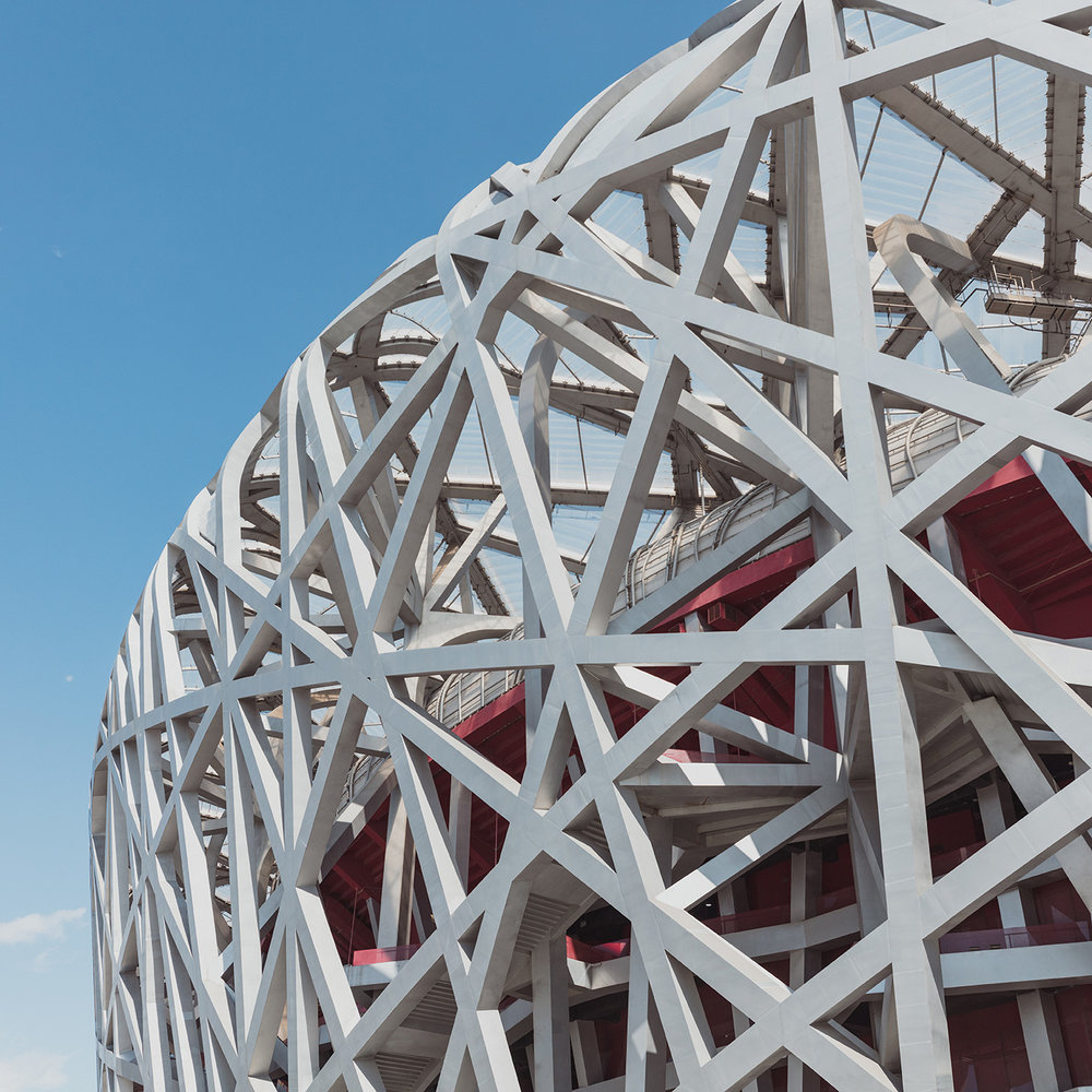 Beijing National Stadium aka Bird's Nest . Location: Beijing, China . Herzog & de Meuron