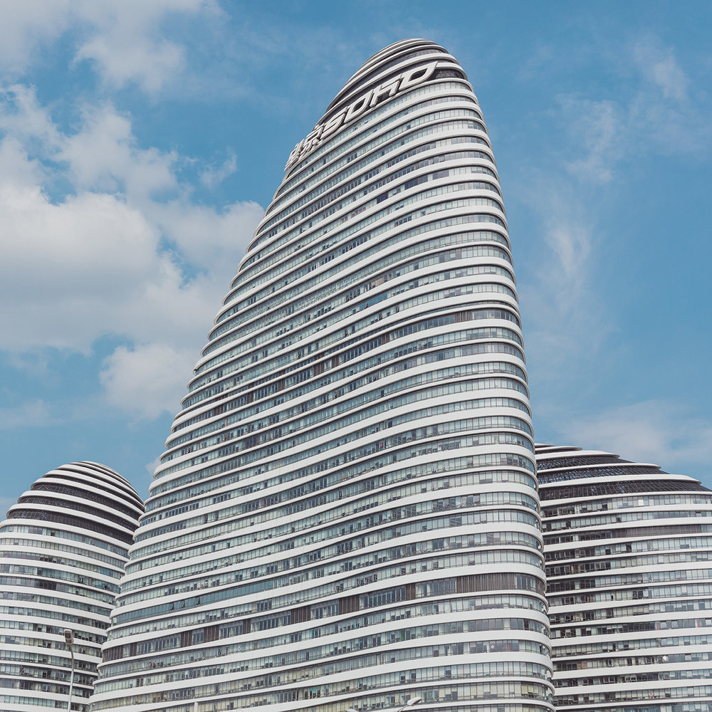 Wangjing SOHO . Location: Beijing, China . Architect: Zaha Hadid Architects