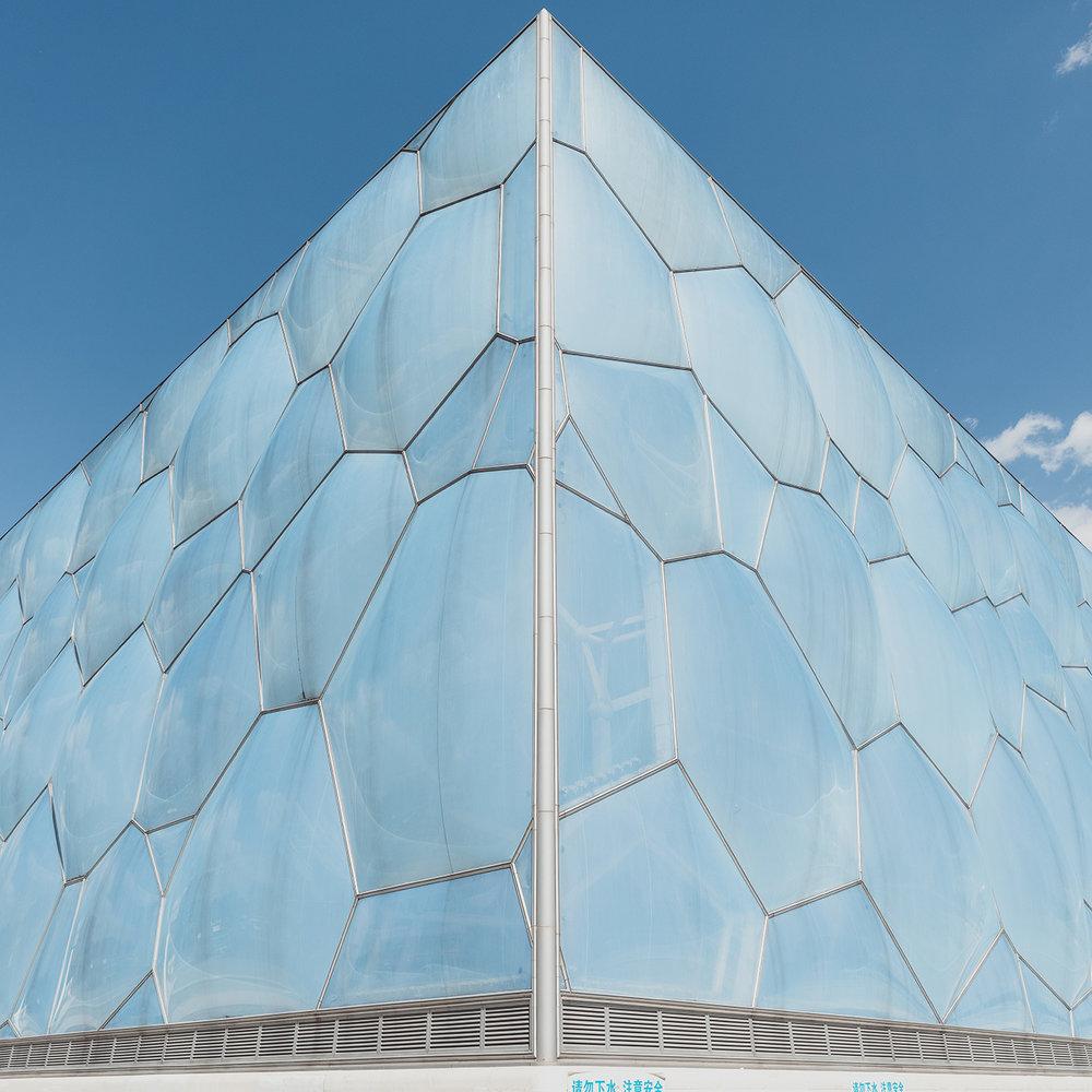 Watercube . Location: Beijing, China . Architect: PTW Architects