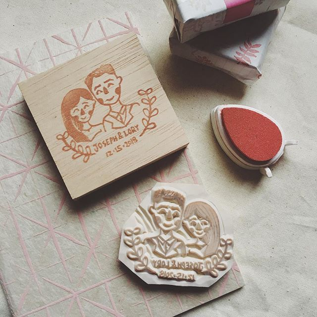 Thank God it's Friday! Here's a stamp for Joseph and Lory's wedding! 💕 blessed union to the both of them! | HMU if you're looking to do a wedding gift/something yourself! :)