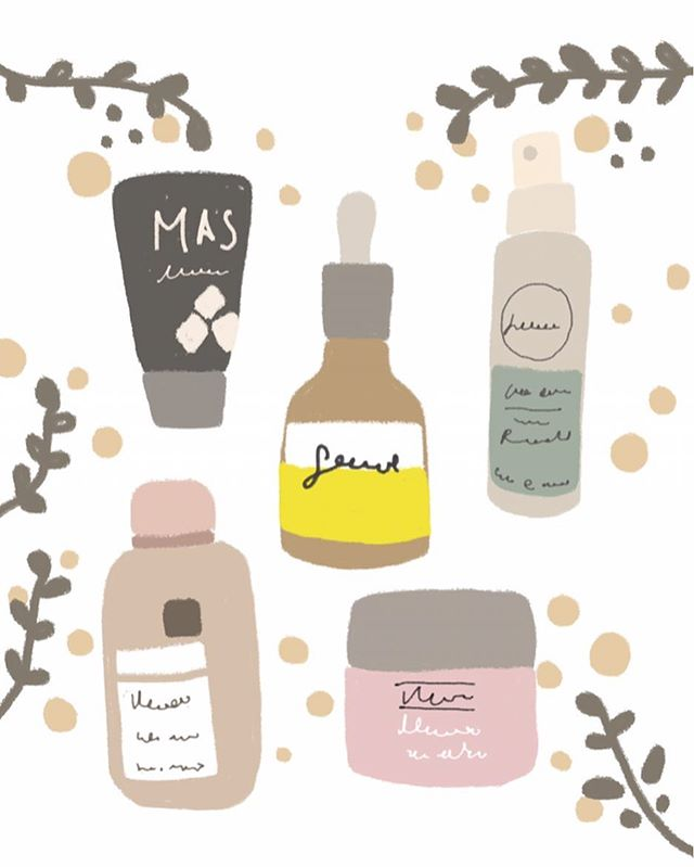 Just a fun illustration of skincare products that I found online w pretty packaging. It's midweek! Hang in there! ✨