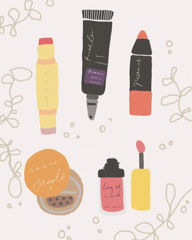 They say the best makeup is your smile but sometimes looking at kewt makeup products give me the best smile?! 😍😝 | Pt 2/3 #illustration #makeup #sephora