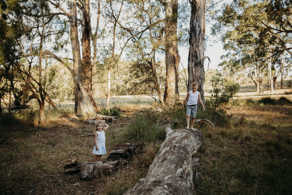 children being children in the Australian Bush