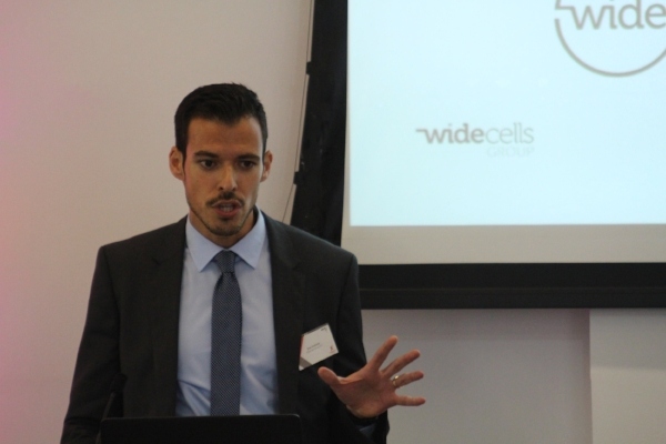 Wide Cells CEO Joao Andrade explains the company's ecosystem model for developing their market at HealthTechXEurope.