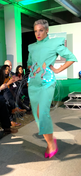 Danielle Jordan's collection was inspired by the rewiring of nerves, prosthetic technology and our perception of our own bodies.