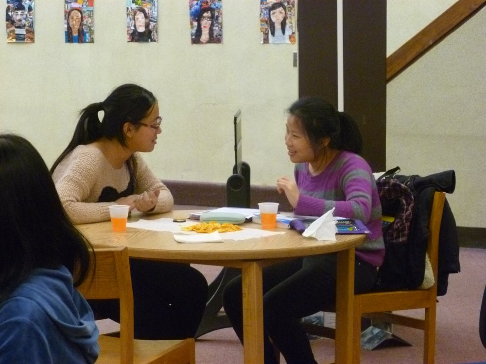 Iris, at left, with her mentee from the U&I Mentoring program in 2012.