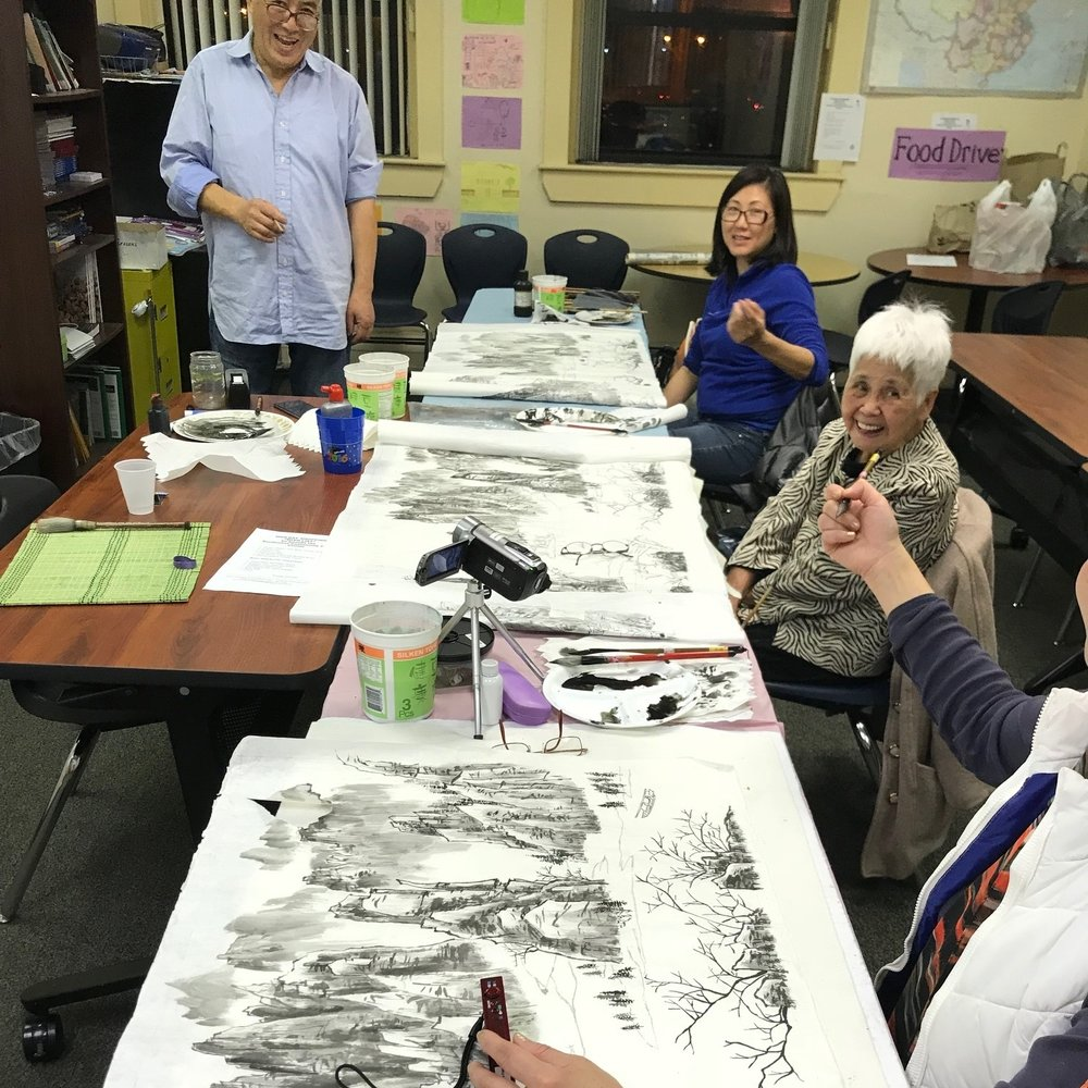 Chinese Painting Class   QARI has been providing Chinese painting class who are interested in learning Asian art.