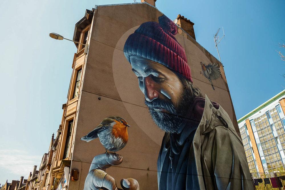 High Street Glasgow - Mural by Sam Bates aka Smug