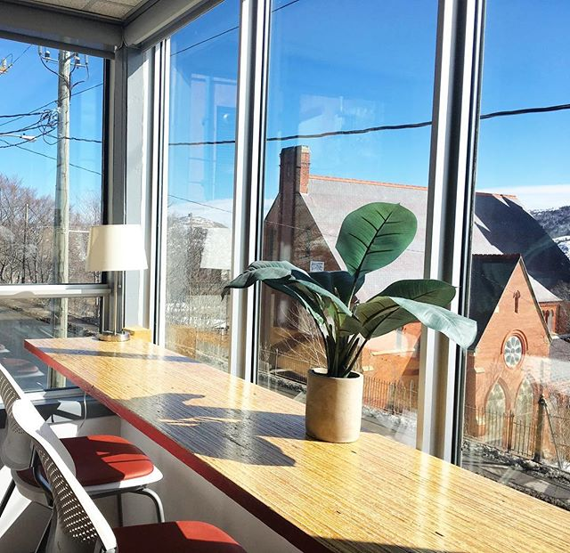 It's always sunny (☀️) and bright (💡) with ideas here at Common Ground!  Book a free tour of our space on our website and see what we're all about! . . . . . . #commonground #coworking #coworkingspace #startsomething #businessnl #entrepreneur #newfoundland #yyt #stjohns