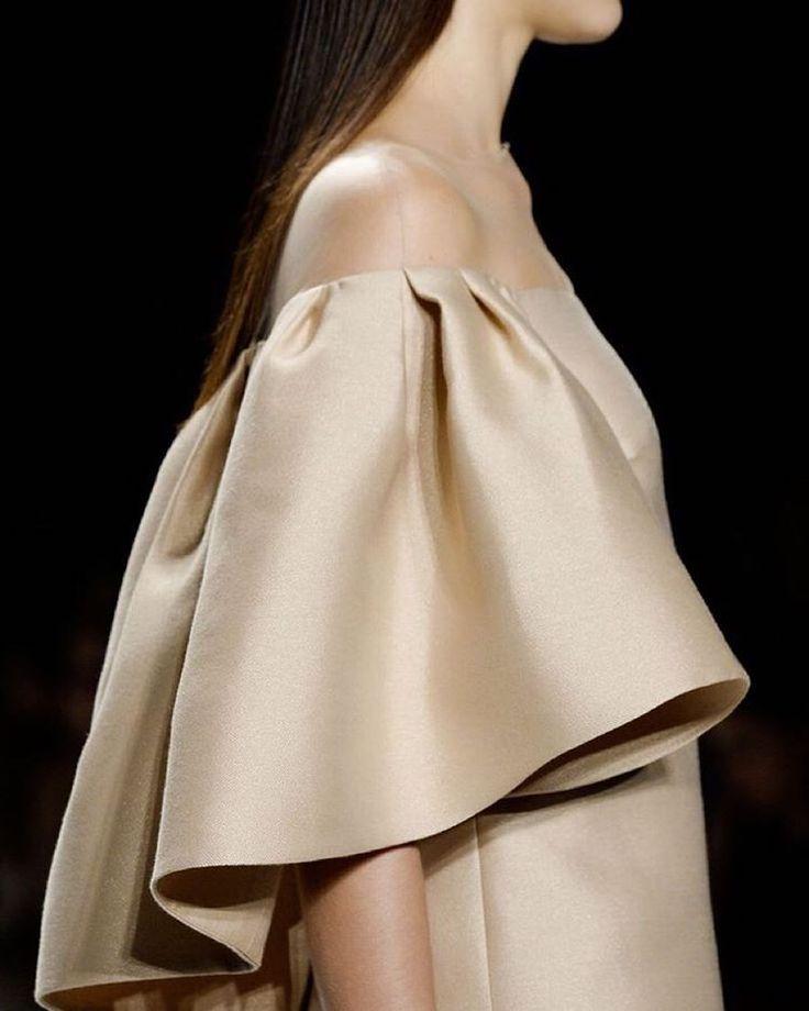 oversized gathers in heavy luxury fabrics -