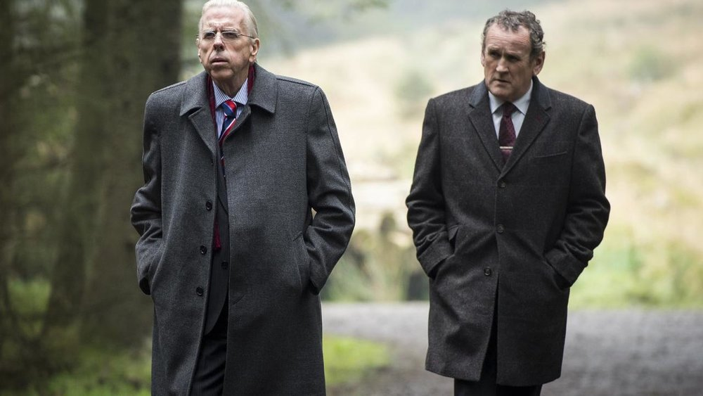 Timothy Spall and Colm Meaney as Ian Paisley and Martin McGuinness in The Journey
