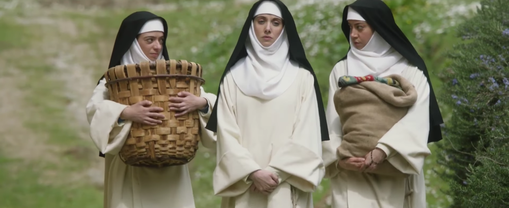 Micicci, Brie and Plaza: Three very bad nuns indeed.