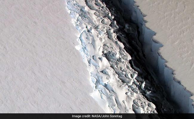 Larsen Ice Shelf C, now a floating, melting island.