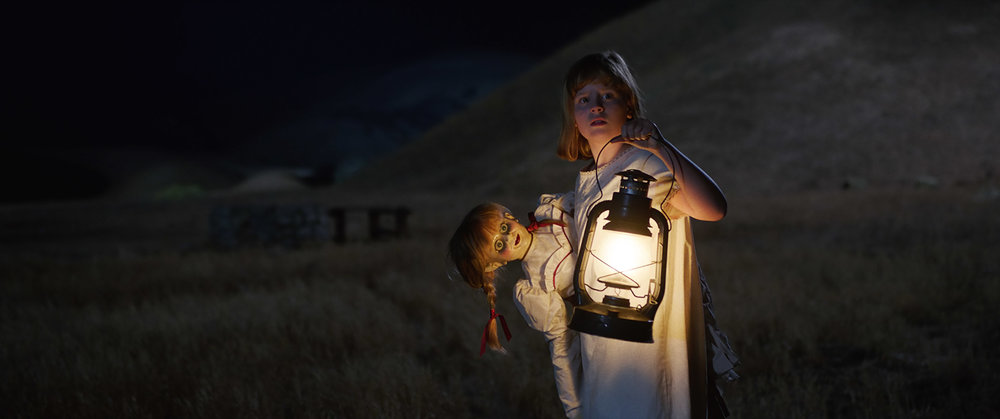 Lulu Wilson and Annabelle in Annabelle Creation