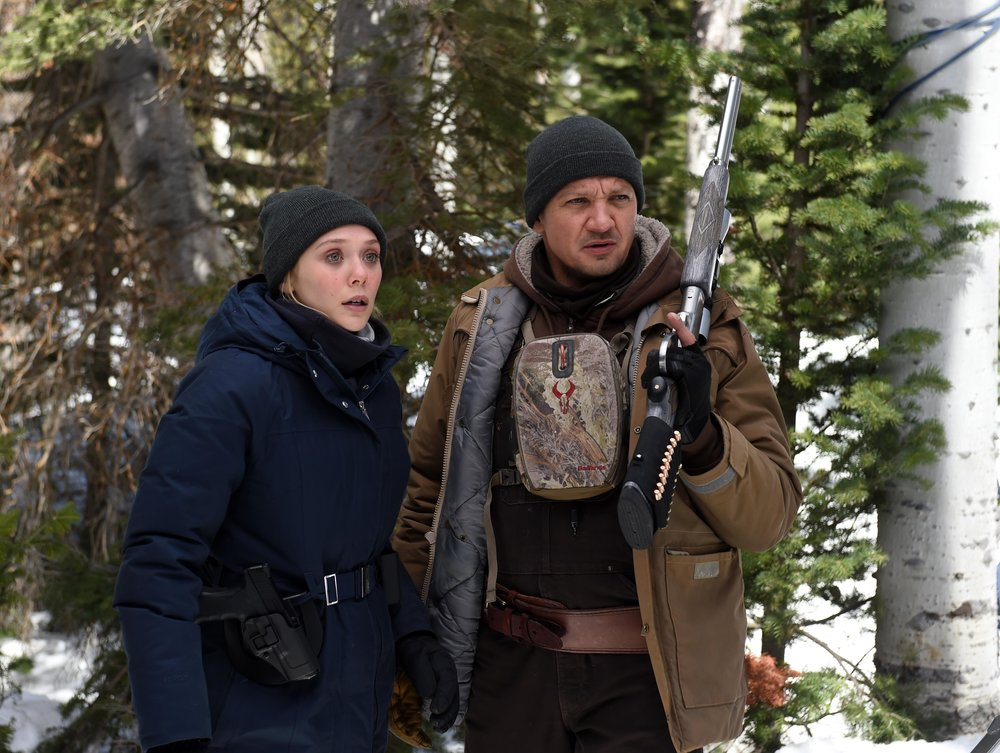 Elizabeth Olsen and Jeremy Renner in the taut thriller Wind River