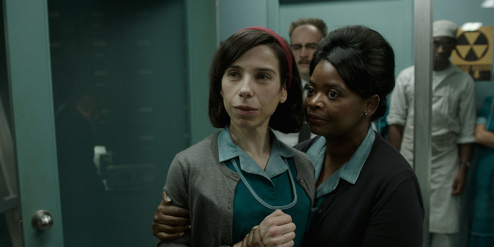 Sally Hawkins and Octavia Spencer in director Guillermo del Toro's The Shape of Water.