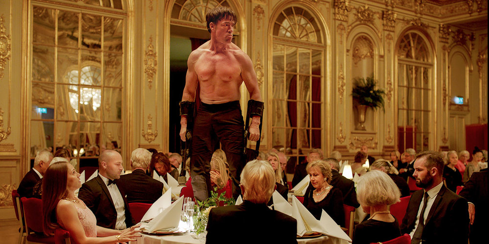 From Sweden with love: A scene from Ruben Östlund's brilliant and mercurial The Square.