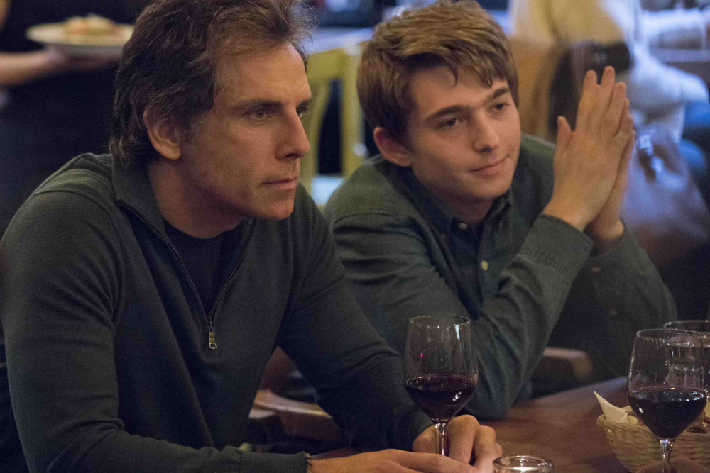 Ben Stiller and Austin Abrams in a scene from Brad's Status.