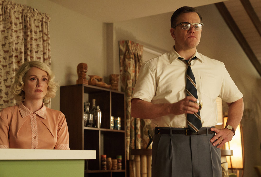 Moore and Damon in Suburbicon: Half a Coen brothers movie is better than none