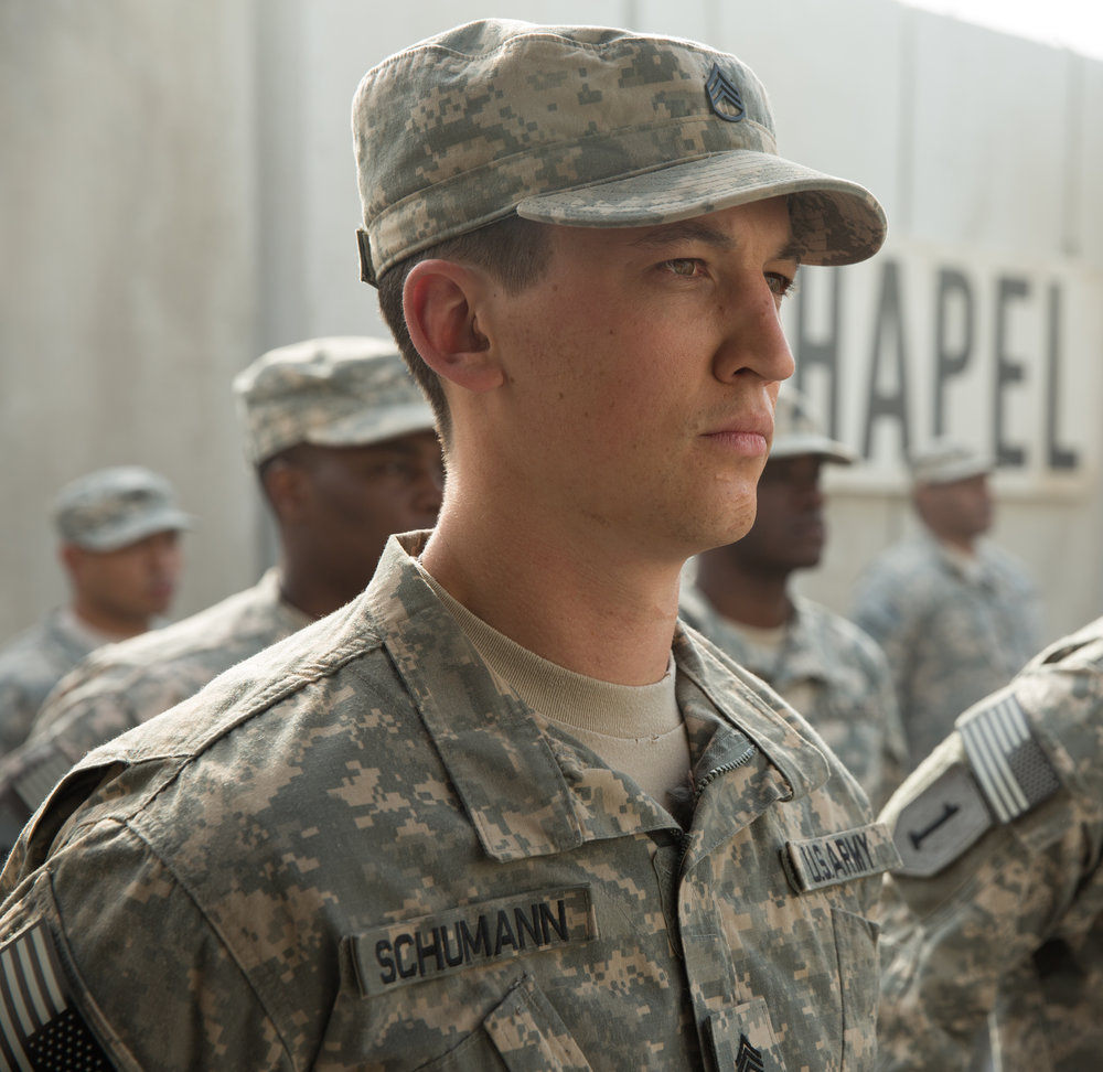 Miles Teller as Sgt. Adam Schumann in Thank You For Your Service