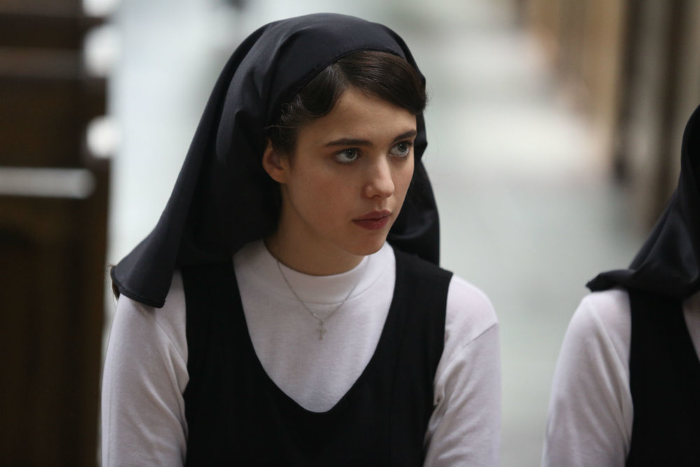Margaret Qualley as a young, naive nun crca 1964 in Novitiate.