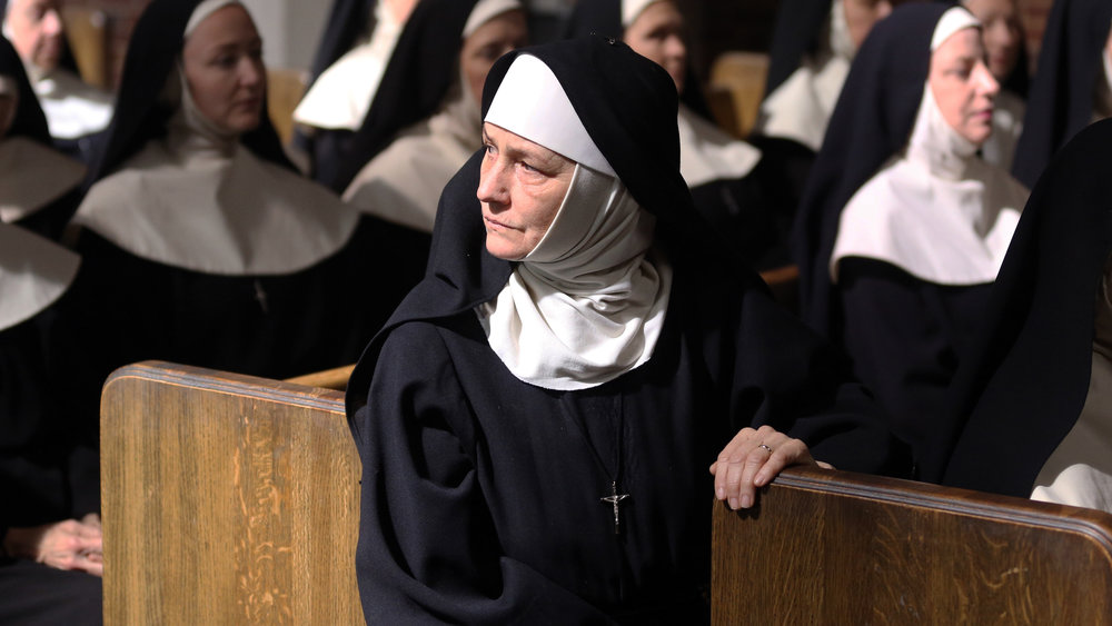Melissa Leo as a bride of Christ