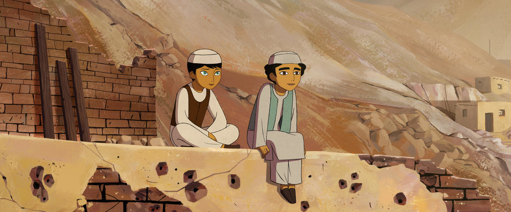 Parvana (Saara Chaudry) finds friends as a boy in The Breadwinner
