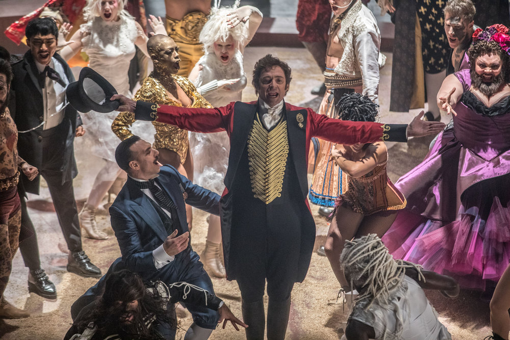 Hugh Jackman as P.T. Barnum sells us a load of elephant poop