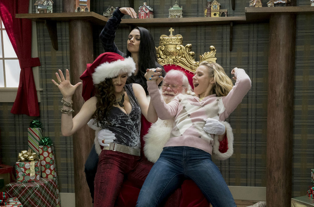Bad Moms' Christmas. At least Santa's happy with it