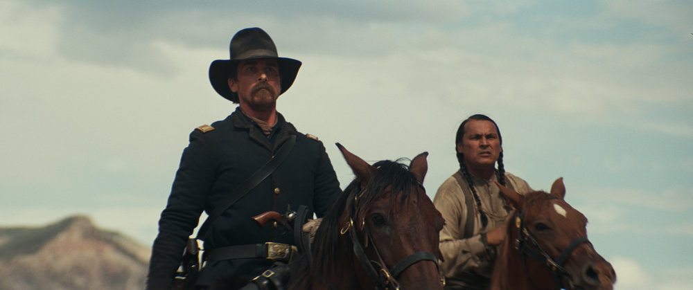 Christian Bale and Wes Studi in Hostiles
