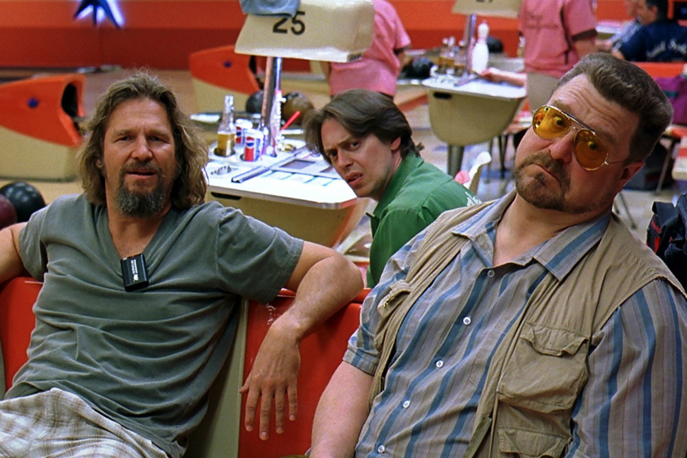 Jeff Bridges, Steve Buscemi and John Goodman haunting the lanes in The Big Lebowski.