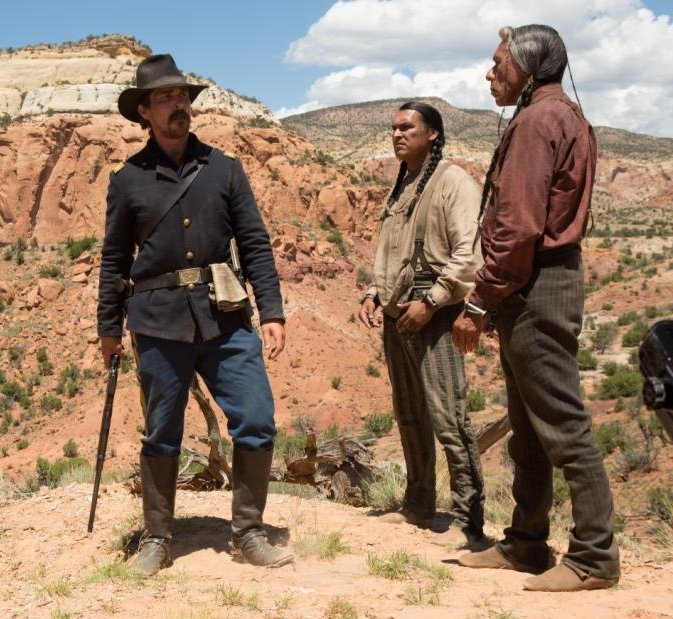 Christian Bale, Adam Beach and Wes Studi in Hostiles
