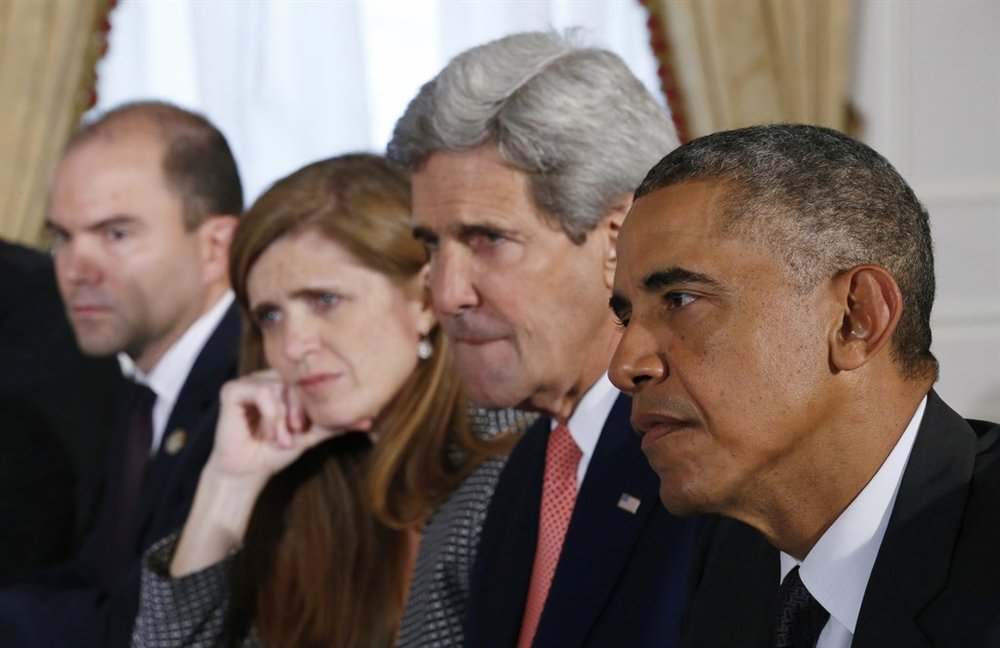 Stayed on duty: Dep. National Security Adviser Rhodes, UN ambassador Power, Kerry, Obama