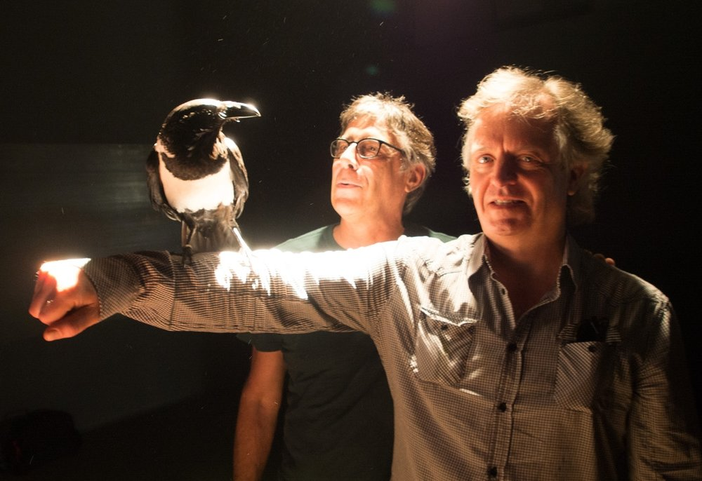 Director Lynch and feathered friend from Birdland
