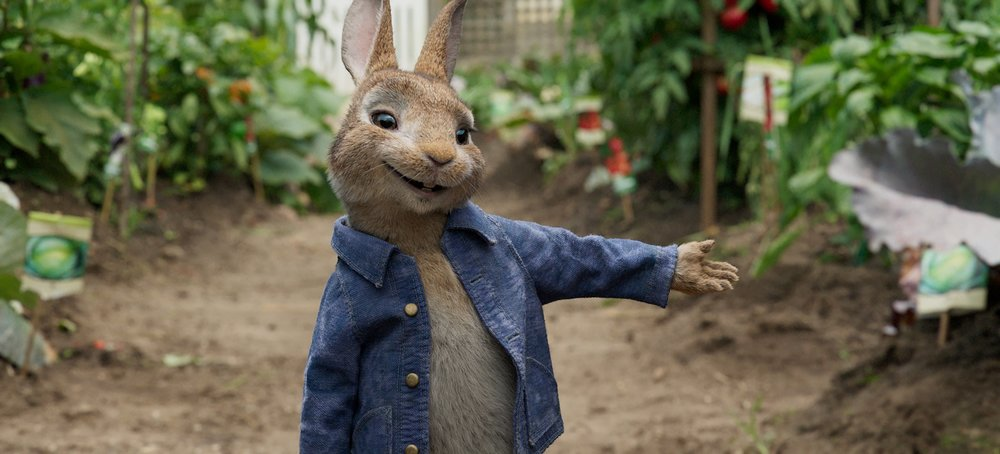 Peter Rabbit and his garden of eatin'