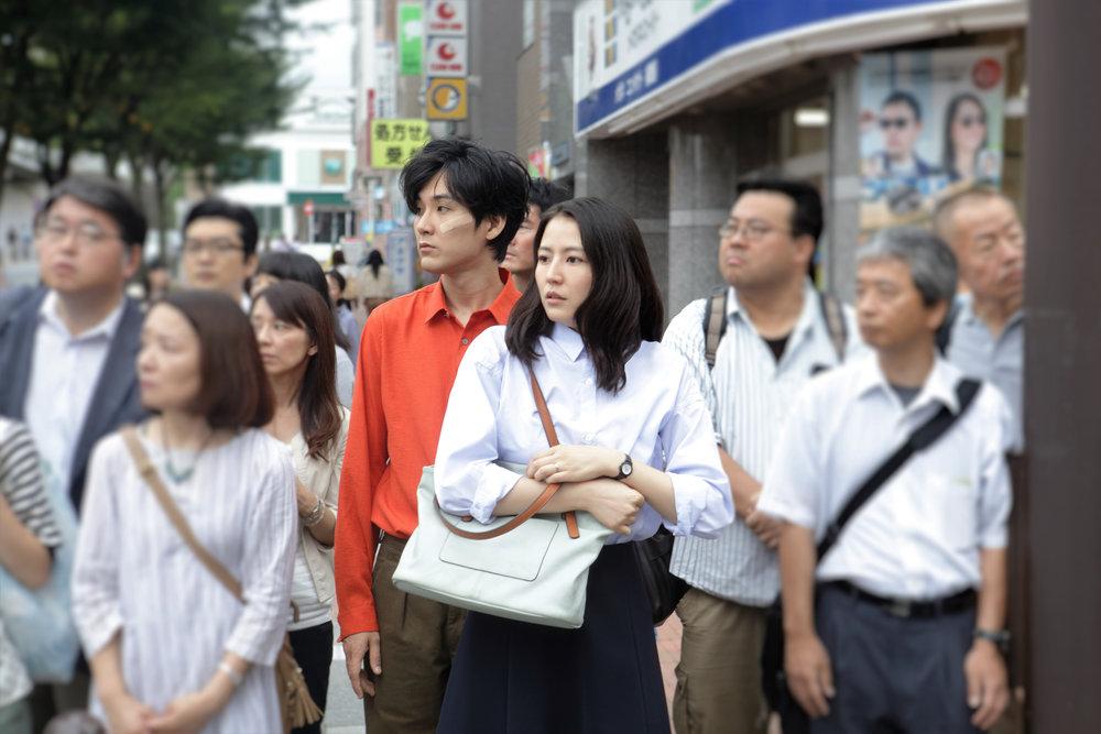 """Masai Nagasawa and Ryuhei Matsuda in Before We Vanish. """"Aliens made my husband nicer!"""""""