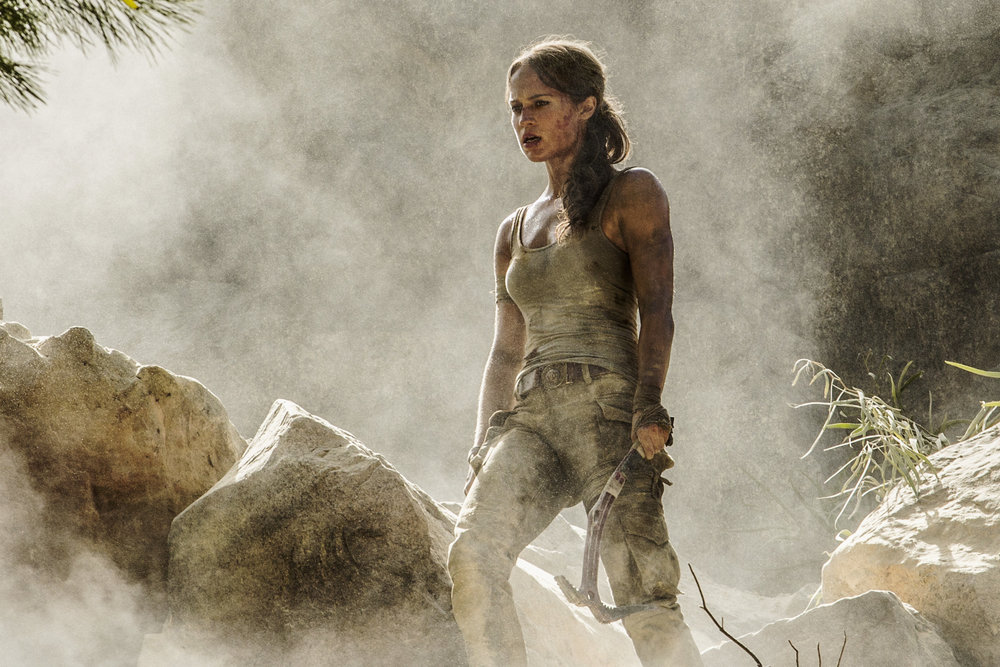 Alicia Vikander as Lara Croft. When the dust clears, there's not much to see here.