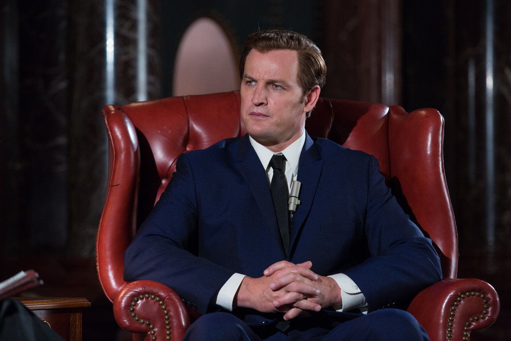 Jason Clarke prepares to spin-doctor the nation as Ted Kennedy in Chappaquiddick