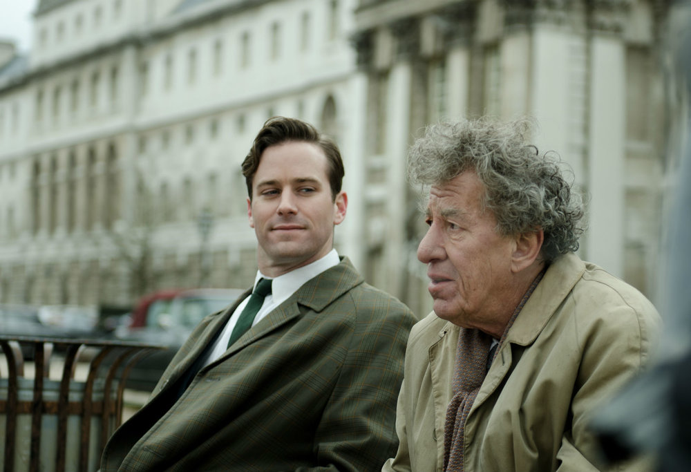 Armie Hammer and Geoffrey Rush: life stranger than fiction...
