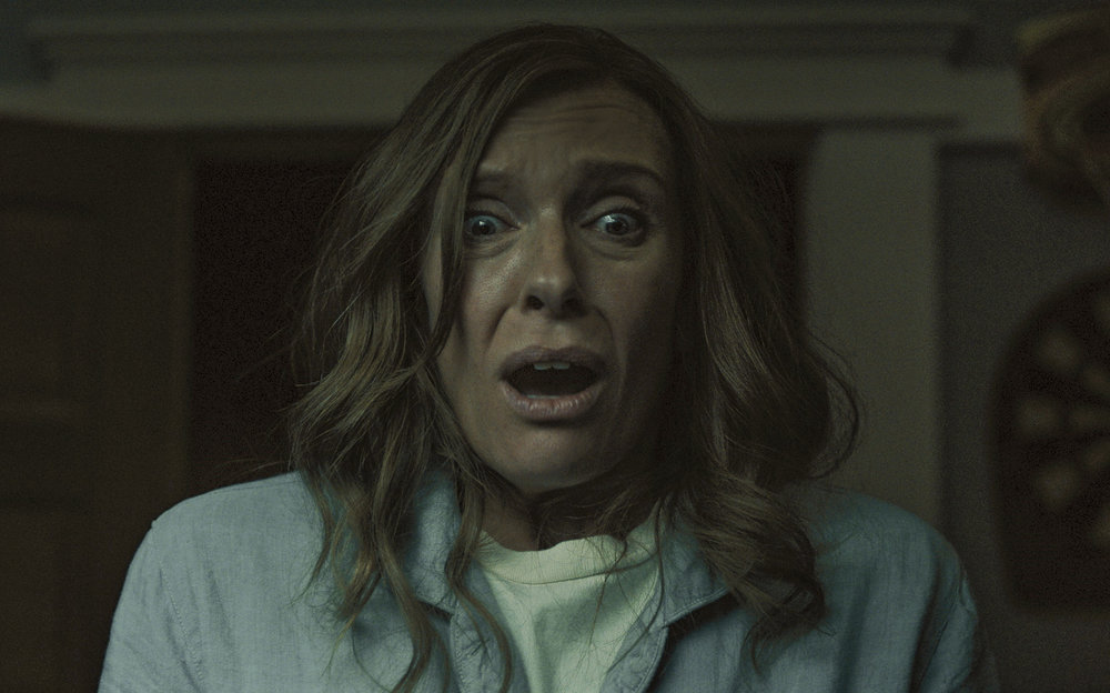 Toni Collette feels the evil in Hereditary