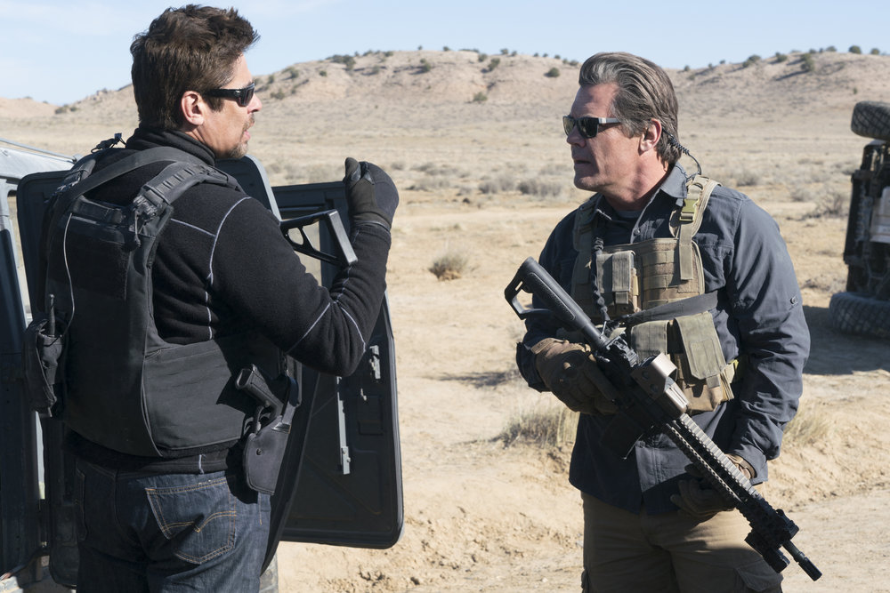 Benicia Del Toro and Josh Brolin try to figure out how their plan could go wrong