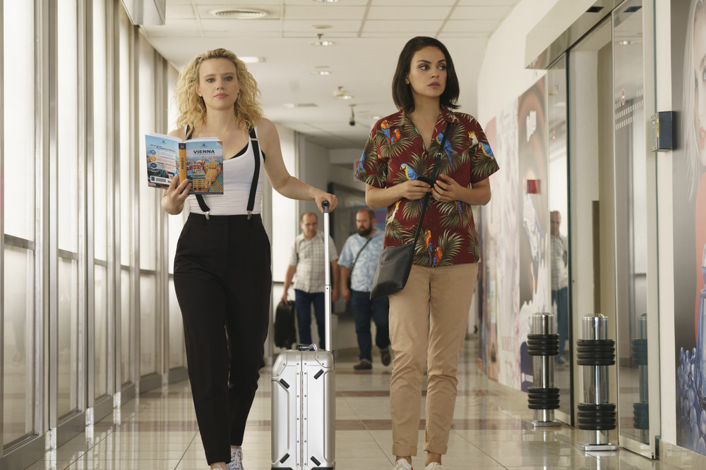 Best friends Kate McKinnon and Mila Kunis are accidental agents in The Spy Who Dumped Me