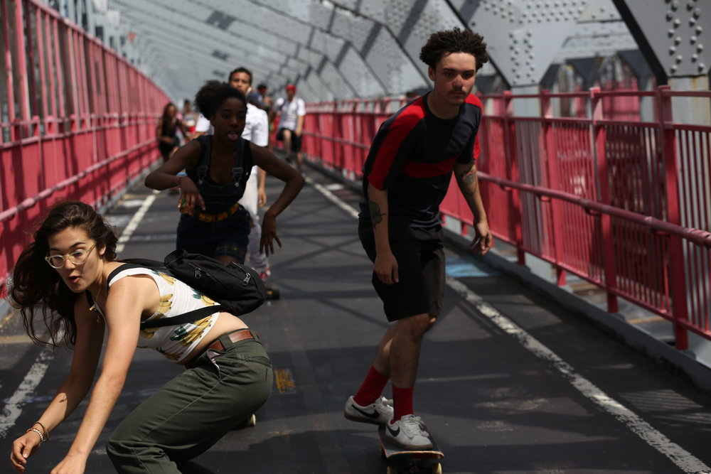 Dede Lovelace hangs with Jaden Smith, who's a member of a rival crew in Skate Kitchen